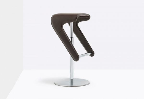 Scaune bar moderne ajustabile structura metal sezut tapitat WOODY 497