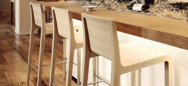 Scaune de bar cadru lemn stejar YOUNG 426