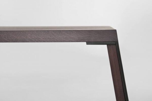 Mese lemn picioare inclinate cu rama metalica E-KLIPSE 001
