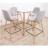 Set dining, masă/patru scaune, DAMAN