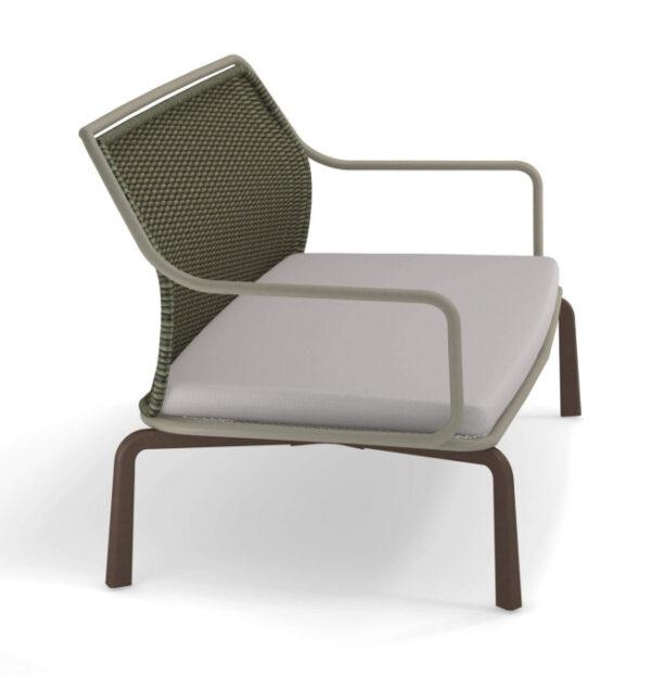 Canapele exterior 2 locuri cadru metal cu perna tapitata CROSS