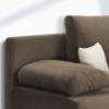 Colţar extensibil, textil capuccino/bej, CLIV