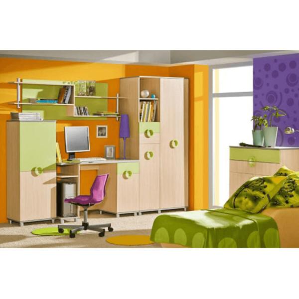 Dulap pentru copii, DTD, portocaliu, EMO N 2