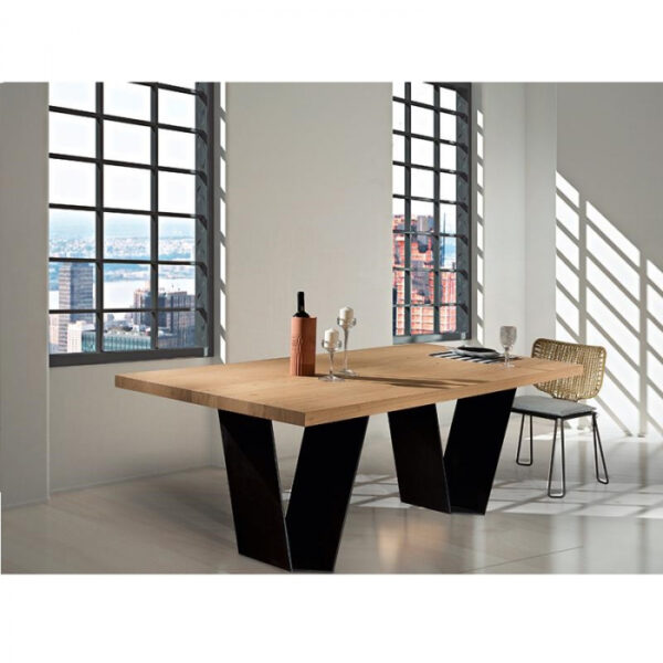 Mese dining baza metalica LOG 001