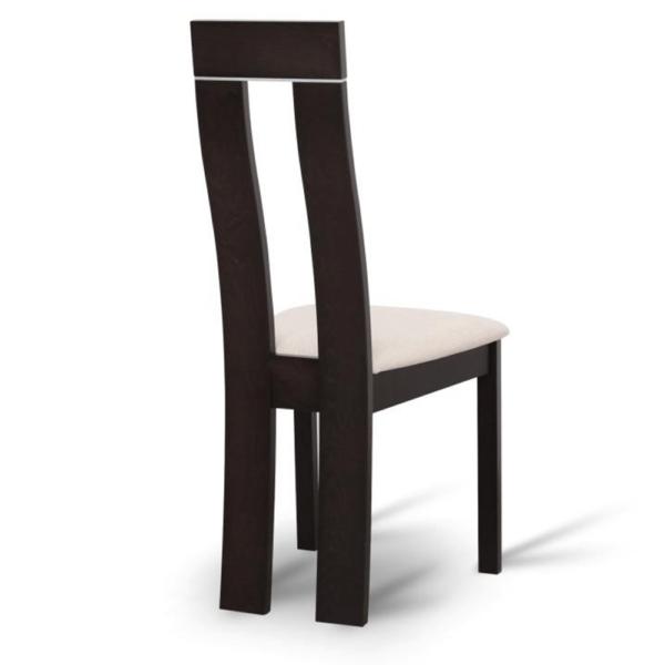 Scaun din lemn, wenge/textil bej, DESI