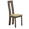 Scaun din lemn, fag merlot/material textil maro, DESI