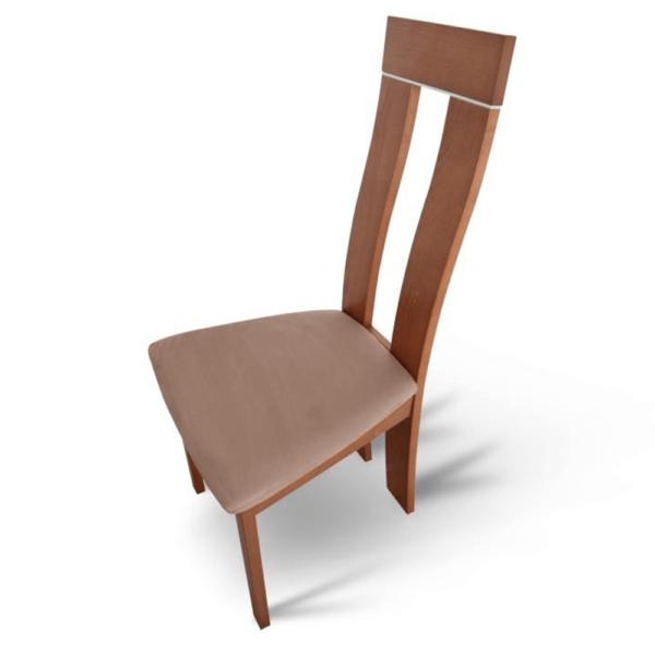 Scaun lemn, cireş/material maro, DESI