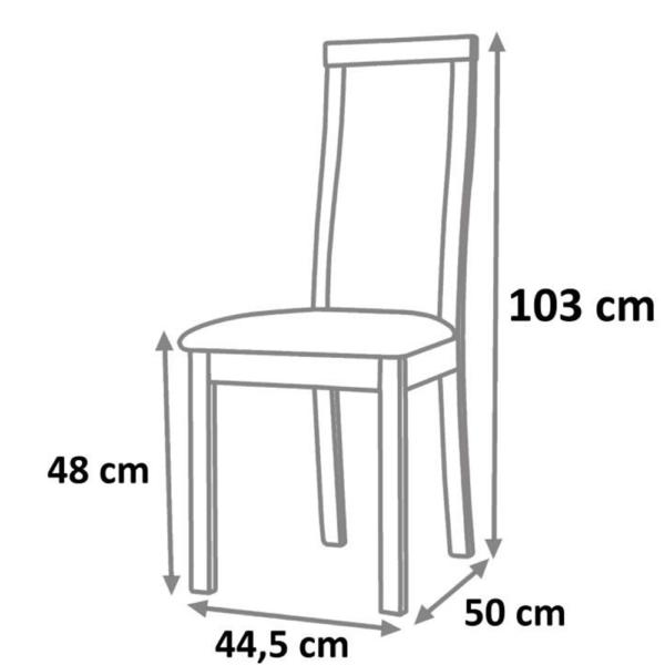 Scaun din lemn, nuc/piele eco bej, DESI