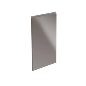 Uşă pentru maşina de spălat vase, alb/gri HG extra lucios, 59,6x571,3, AURORA