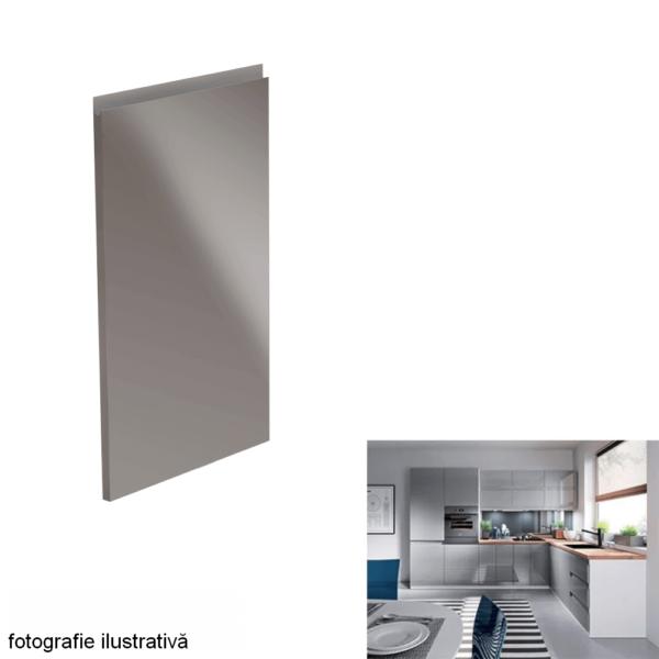 Uşă pentru maşina de spălat vase, alb/gri HG extra lucios, 44,6x71,3, AURORA