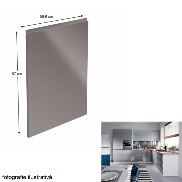 Uşă pentru maşina de spălat vase, alb/gri HG extra lucios, 59,6x57, AURORA