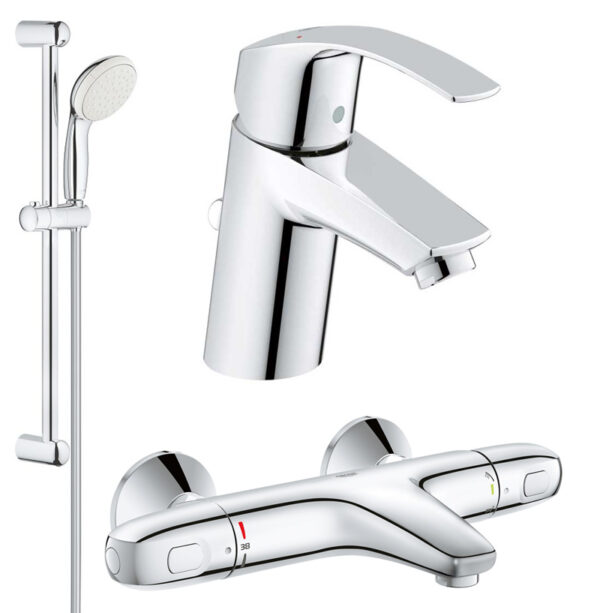 Set complet baterii baie cada termostat Grohe Grohtherm 1000 (33265002,34155003,27853001)