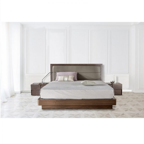 Pat lemn cu tablie tapitata GIO BED