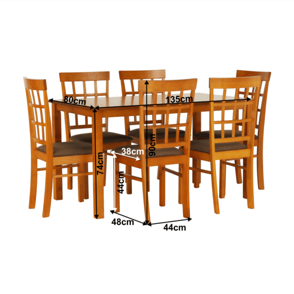 Set dining 1+6, cireş, GRID NEW