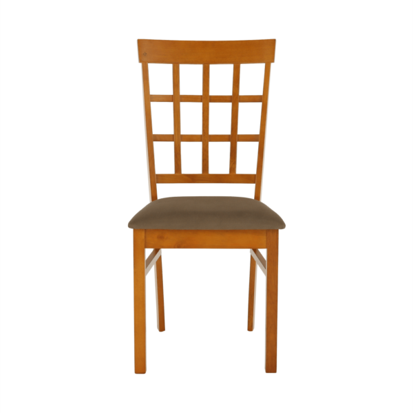 Scaun, lemn cireş/material textil bej maro, GRID NEW