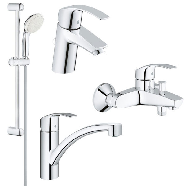 Set complet baterii baie si bucatarie Grohe Eurosmart New-(33265002,33300002,27853001,33281002)
