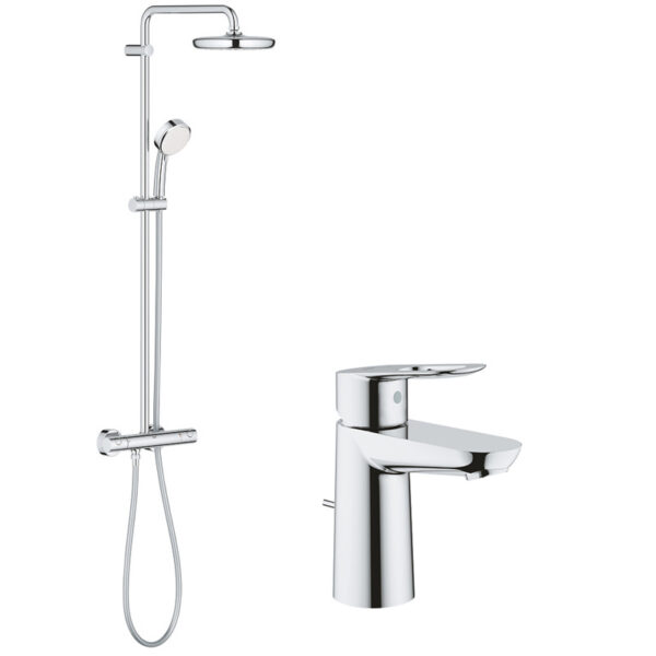 Pachet: Coloana dus Grohe New Tempesta 210-27922001, Baterie lavoar Grohe Bauloop S-23335000