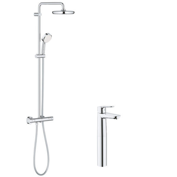 Pachet: Coloana dus Grohe New Tempesta 210-27922001, Baterie lavoar blat Grohe BauEdge XL-23761000