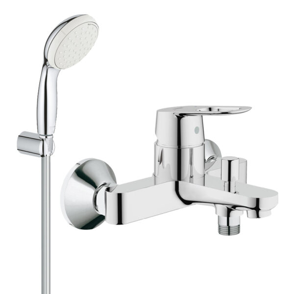 Pachet: Baterie baie cada Grohe Bauloop-23341000+Set dus Grohe New Tempesta 100 lungime 1,25m-27799001