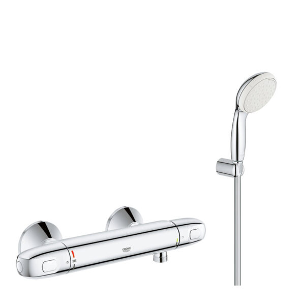 Pachet promo: Baterie cabina dus termostat Grohe Grohtherm 1000 New + set dus Grohe New Tempesta(34143003,27799001)
