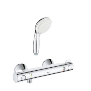 Pachet Baterie dus termostat Grohe Grohtherm 800 + para dus Mono Grohe New Tempesta