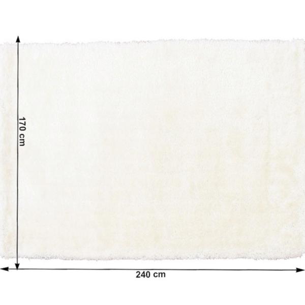 Covor 170x240 cm, alb, AMIDA