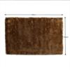 Covor, maro-auriu, 100x140, DELAND