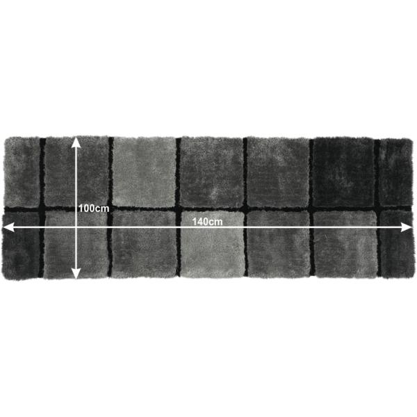 Covor, gri, 70x210, LUDVIG TYP 2