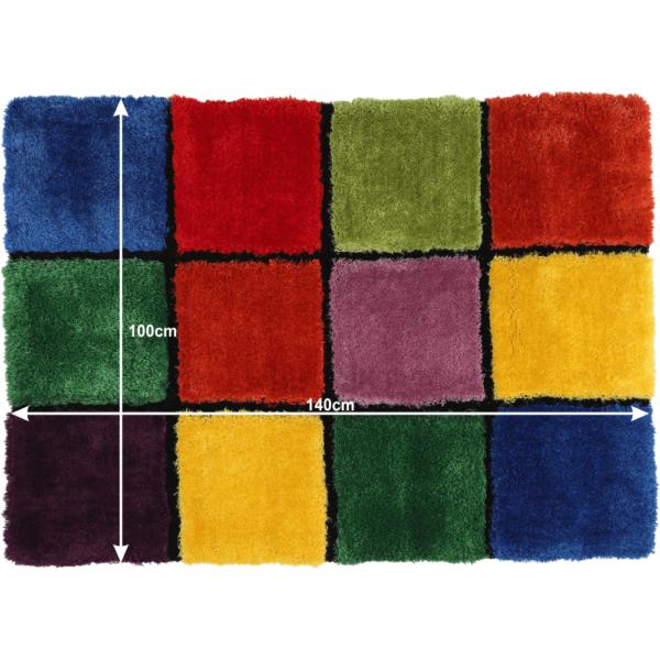 Covor, roşu/verde/galben/violet, 100x140, LUDVIG TYP 4