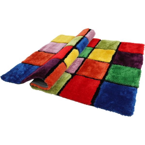 Covor, roşu/verde/galben/violet, 140x200, LUDVIG TYP 4