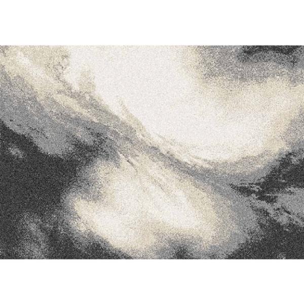 Covor 100x150 cm, alb/maro/negru, TOCAR