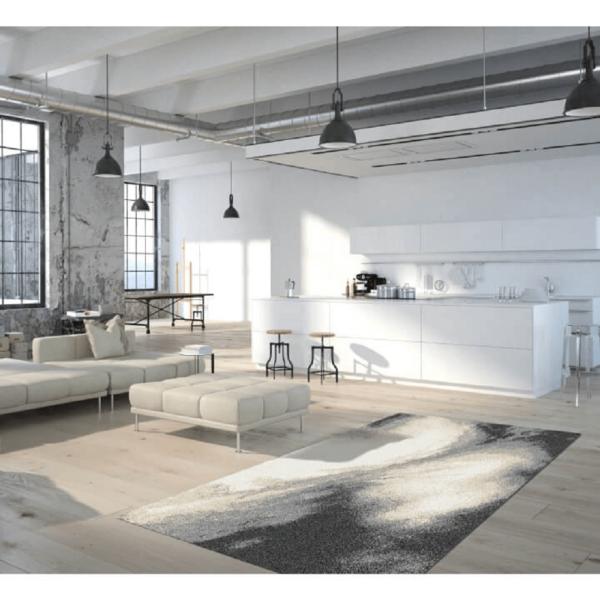 Covor 160x235 cm, alb/maro/negru, TOCAR