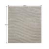 Covor 200x300 cm, alb/gri, SELMA