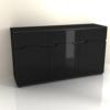 Scrin, negru/negru luciu extra ridicat, ADONIS ASK7