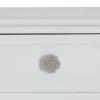 Comodă 2 sertare, alb, BRAIN 2