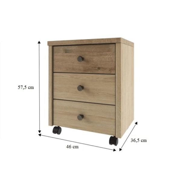 Container 3S, stejar madura/wellington, DIAZ