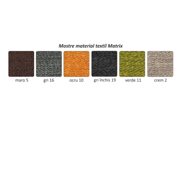 Taburet, material textil Matrix 17 gri, SANTIAGO
