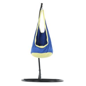 Scaun balansoar suspendabil, albastru/galben, BEN