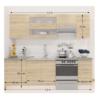 Ansamblu bucătărie 2,4 m, stejar sonoma/alb, FABIANA