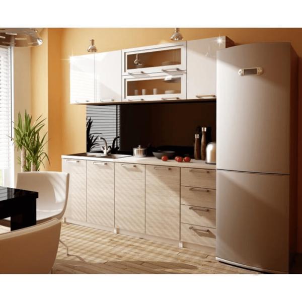 Dulap de bucătărie, model dreapta, ramă argintie/sticlă, ITA NEW GW-40