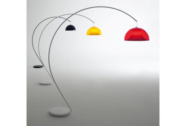 Lampa de podea cu picior arc si abajur din policarbonat L002T/BA