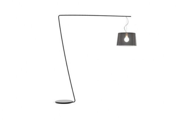 Lampa de podea cu picior si abajur din policarbonat L001T/B