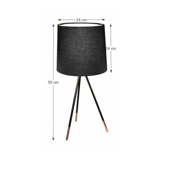 Lampă de masă, negru, JADE TYP 4 8008-44A