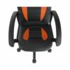 Fotoliu de birou, piele ecologică neagră / portocalie, MADAN
