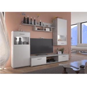 Mobilier living, alb/beton deschis, BREAK