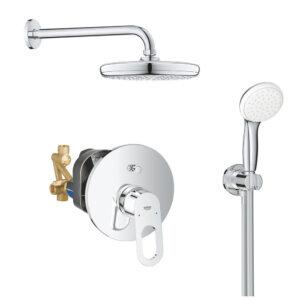 Sistem dus montaj incastrat Grohe Bauloop Perfect Shower,corp incastrat inclus