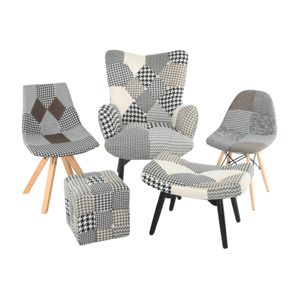 Fotoliu, material patchwork, PEPITO NEW TYP 4