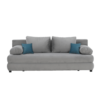Colţar extensibil, textil gri/turcoaz, CLIV