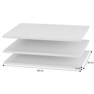 Rafturi pentru dulap, 3 buc, alb, ITALIA