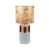 Lampă de masă, gri-maro/roz-auriu/model auriu, QENNY TIPUL 18